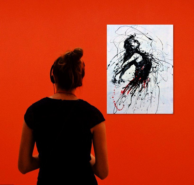 Drip painting, Study of a dancing woman No 1