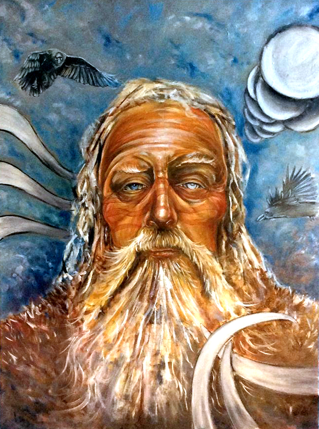 viking god odin painting by ole hedeager
